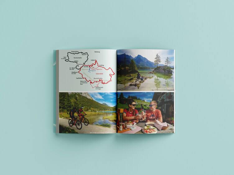 """Buchrezension Karte """"Abenteuer Mountainbiken"""" Barabara Pirringer Tyrolia Verlag"""