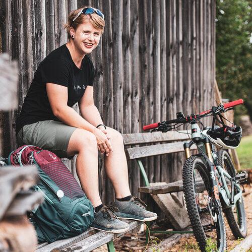 "Autorin Barbara Pirringer ""Abenteuer Mountainbiken"" Tyrolia Verlag"